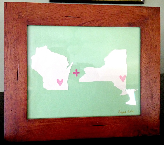Simple State Art Wedding Gift