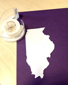 Trace State for DIY State Art Wedding Gift