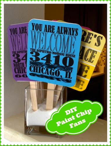 Paint Chip Party Favors
