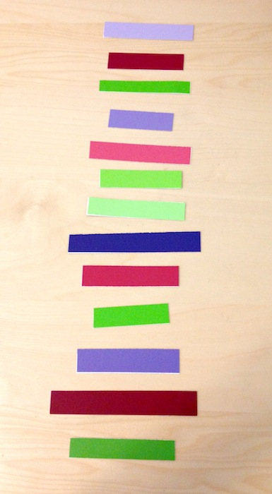 Paint Chip Garland DIY