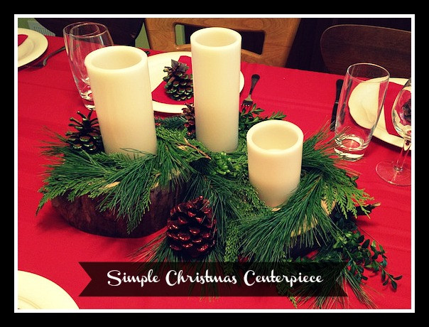 Nature inspired Christmas centerpiece